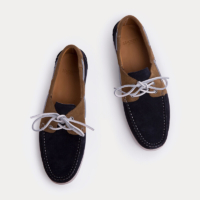 Navy/Sand Guersey Bicolour Suede Boat Shoes