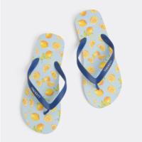 Lemons Print Flip Flops