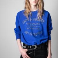 Royal Blue Upper Blason Sweatshirt